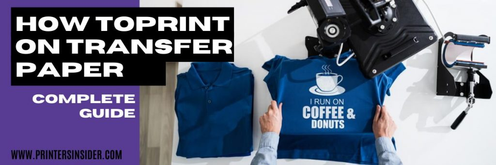 how to use transfer paper for a t shirt