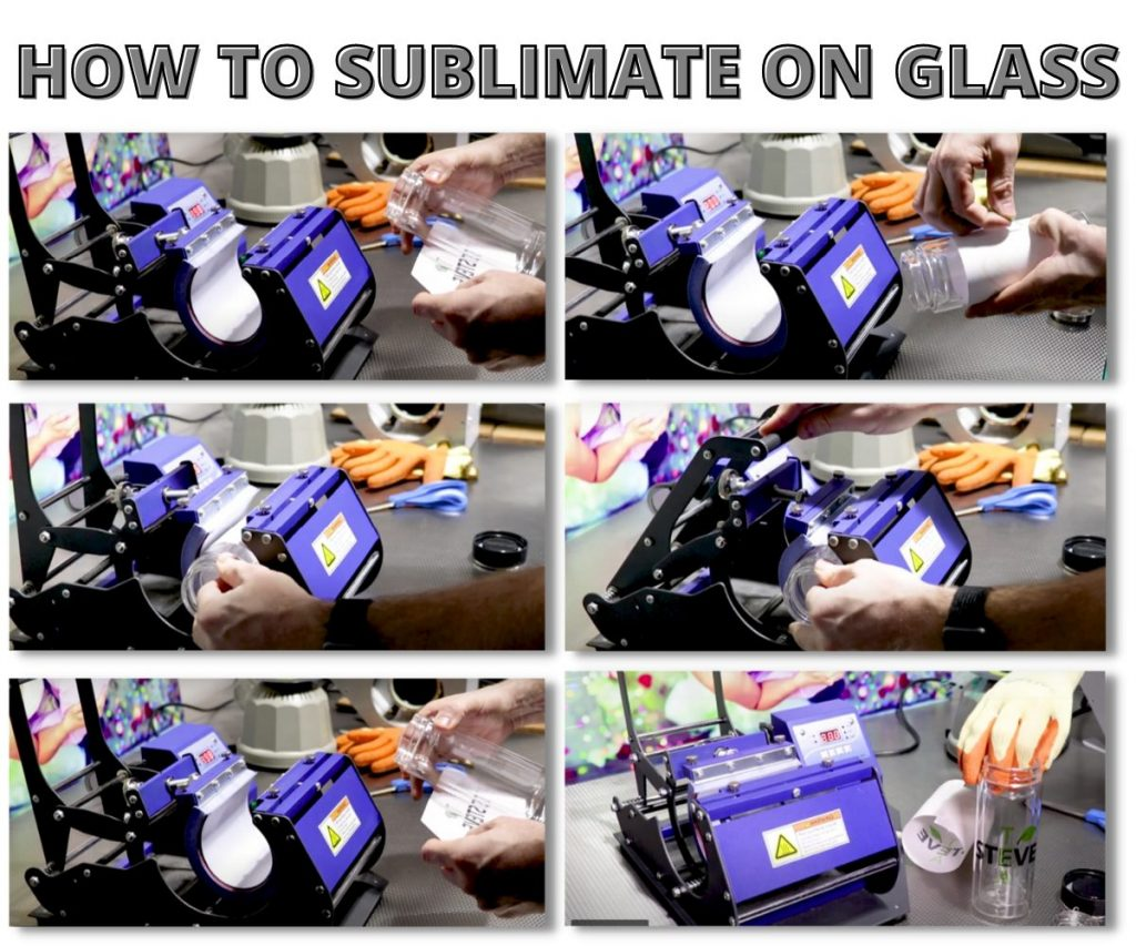 How to sublimation on glass